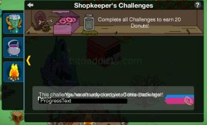 Shopkeeper Challenge Main Screen w House of Evil