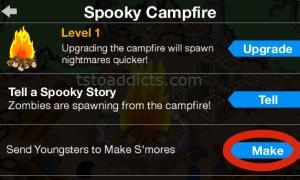 Spooky Campfire Pop Up Make S'mores