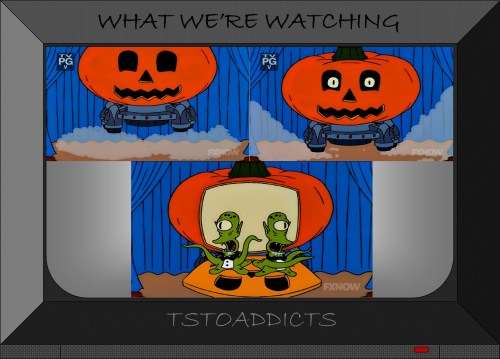 UFP Unidentified Flying Pumpkin Kang and Kodos Simpsons