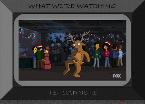 Dancing Reindeer Simpsons