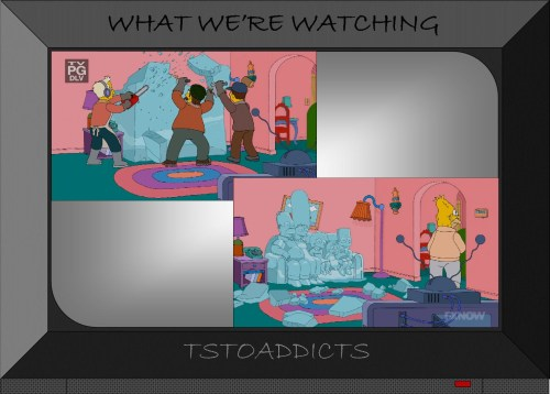 Ice Sculpture Couch Gag Scene Simpsons