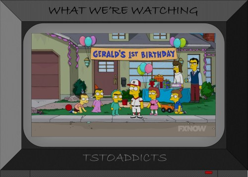 Baby Gerald's 1st Birthday and Mom and Dad Simpsons