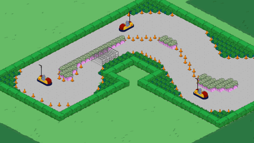 Go Cart Track Decorations with Cars