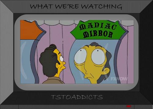 Plaster Mountain Theme Park Maniac Mirror Simpsons