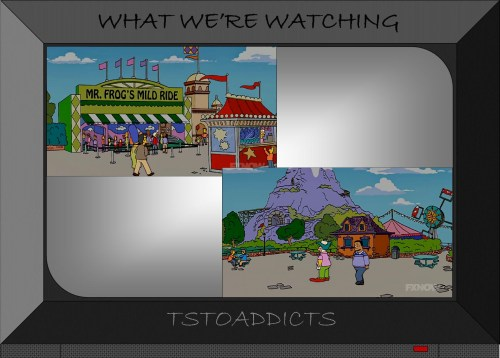 Plaster Mountain Theme Park Mr. Frog's Mild Ride Simpsons