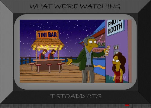 Tiki Bar Squidport Simpsons