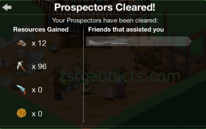 Prospectors Cleared
