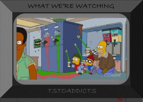 Future Kwik-E-Mart Homer and Grandkids Simpsons