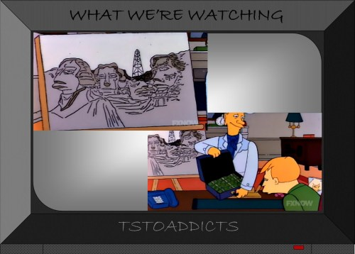 Oil Lobbyists Mout Rushmore Simpsons