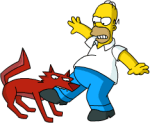 space Coyote bite homer leg