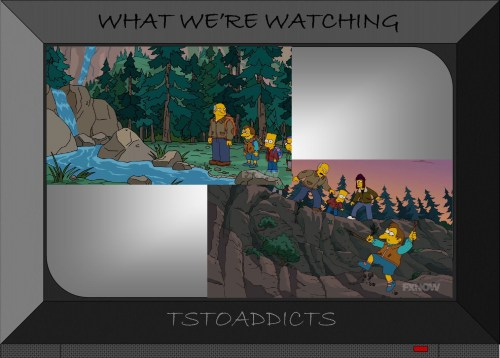 Superintendent Chalmers Nelson Bart Jimbo searching for Theodore Roosevelt's spectacles Springfield National Forest Simpsons