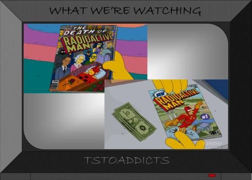 Death of Radioactive Man & New Radioactive Man #1 Simpsons