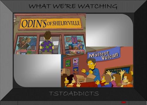 Odin's of Shelbyville The Maltese Vulcan Comic Shops Simpsons