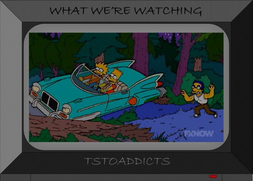 Bart and Lisa hover car don't settle for Milhouse future Simpsons