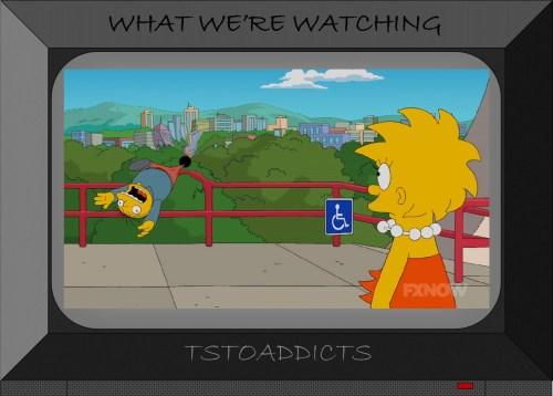 Black Hole sucks up Ralph Wiggum Simpsons