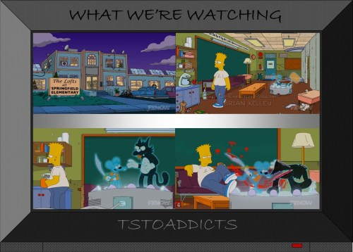 The Lofts at Springfield Elementary Adult Bart Itchy & Scratchy Holo-Theater Simpsons