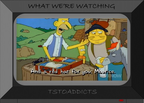 maurice-and-barts-lucky-red-hat-simpsons