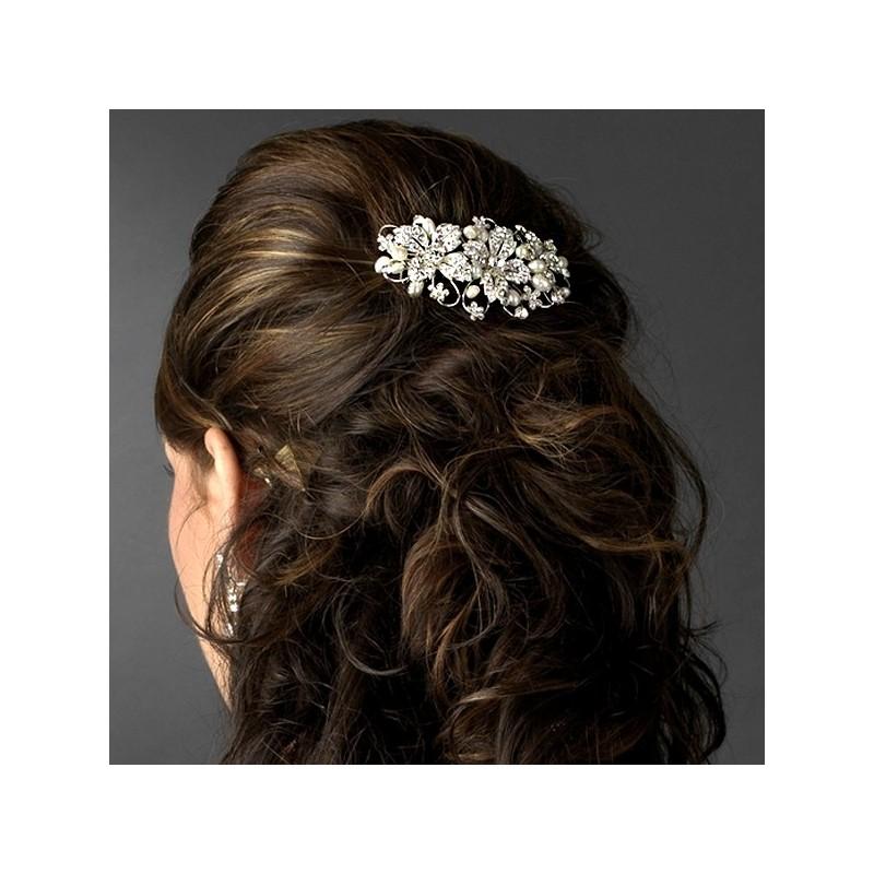 Freshwater Pearl Rhinestone Bridal Hair Comb Wedding Hair