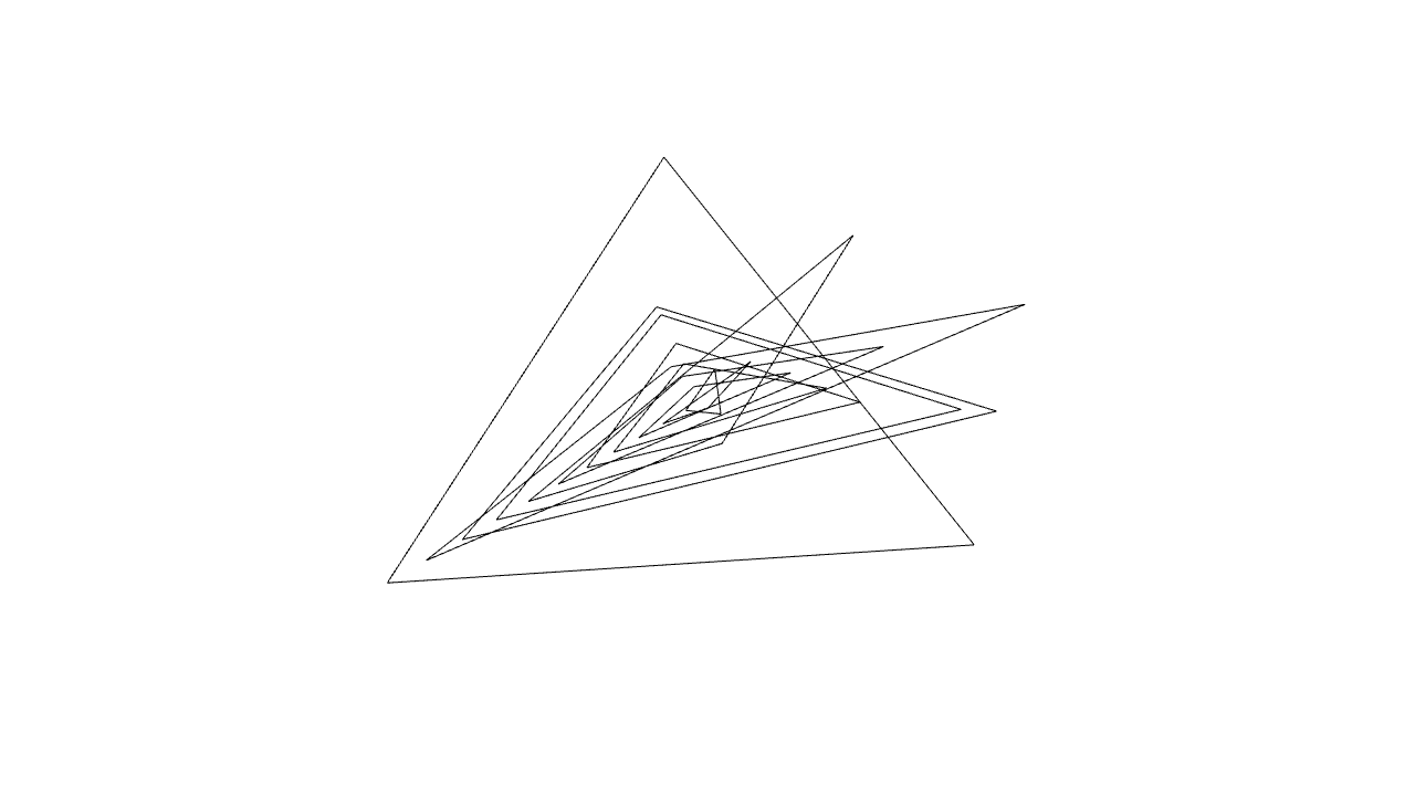 [work 81] Rotating triangles