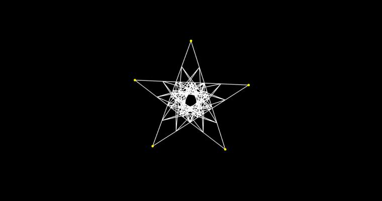 [work 106] Star & Bezier curve ver.2