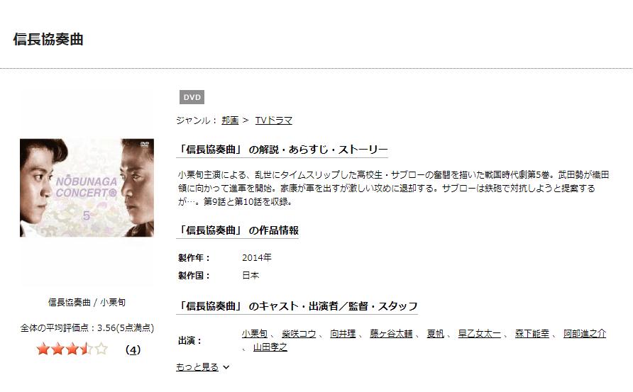 信長協奏曲ドラマ