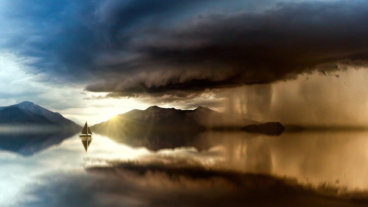 海にうかぶ船