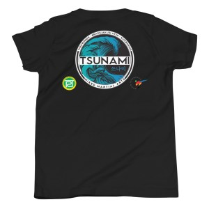 Tsunami Wave Youth T-Shirt w/ back logos