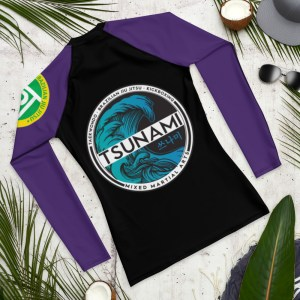 Purple Ranked Rash Guard