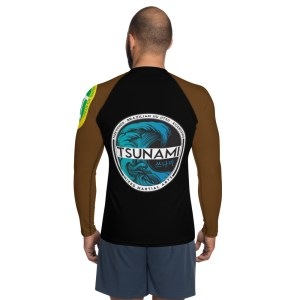Brown Ranked Rash Guard