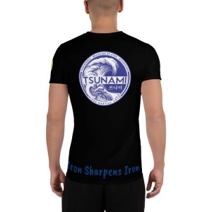 BJJ All-Over Print Men's Athletic T-shirt (iron sharpens iron)