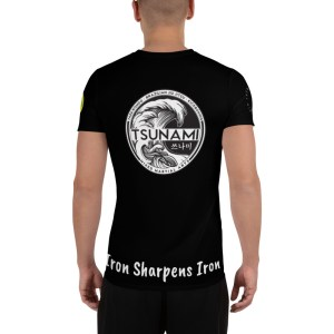 BJJ & TKD All-Over Print Athletic T-shirt (Iron sharpens iron)