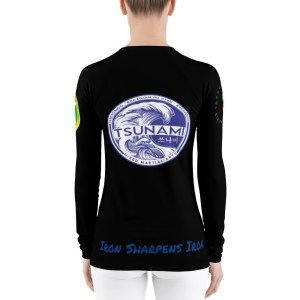 BJJ Women's Rash Guard (iron sharpens iron)