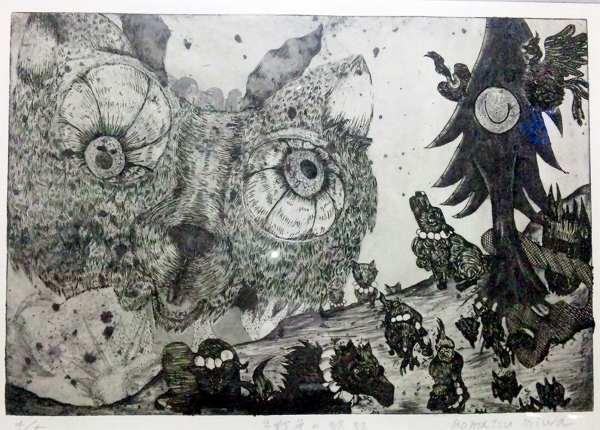 小松美羽(銅版画家)作品 値段