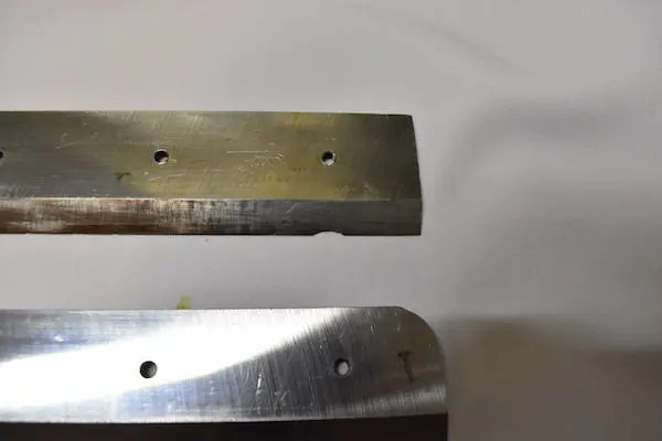 裁断機替え刃進級比較 刃こぼれ 欠け