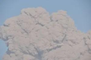 桜島噴火火山灰