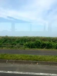 稚内市街地まで空港からバスで移動