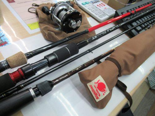 ブライトリバー ビキニ2582、 アブガルシア アンバサダー5001C 86-0 87-88、 グラッピー55ML、 ヘチセレクションXT H-SPEC250、 ランカーギアLGX 60C ML J