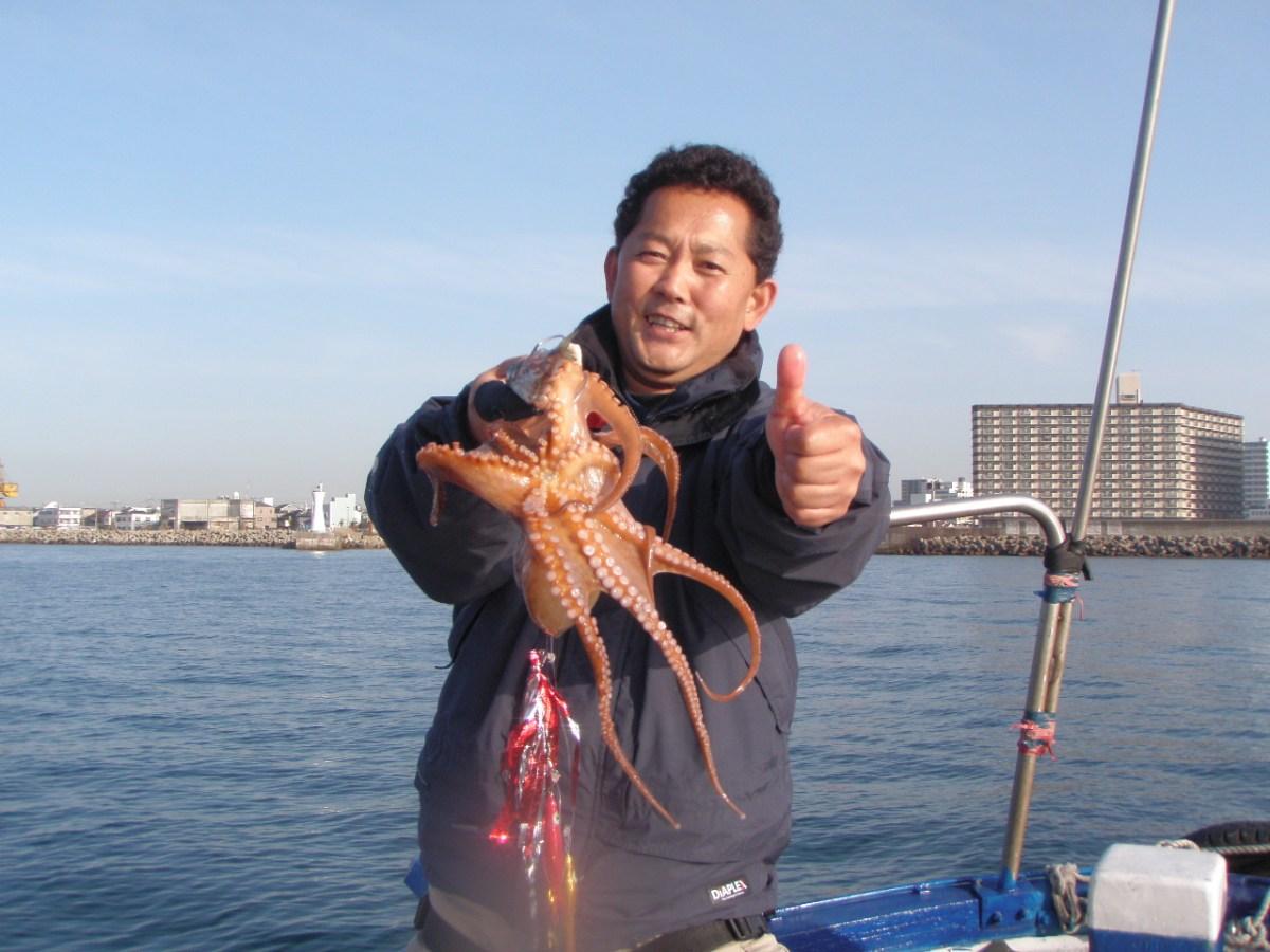 4月18日(土)の釣果(真蛸2.5kg)