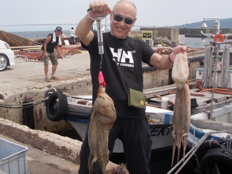 7月24日(日)の釣果(マダコ3.2kg含む船中188杯)