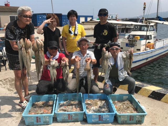 7月30日(日)の釣果(マダコ船中185杯)