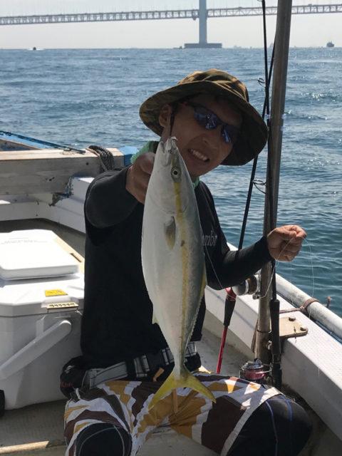 9月9日(土)の釣果(タチウオ20匹・ハマチ6匹)