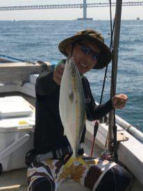 9月9(芝野様)太刀魚は全員坊主無し竿頭で5匹、呑ませでハマチ竿頭で2匹でした。
