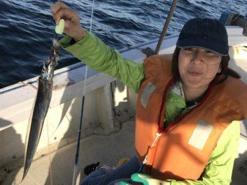 人生初タチウオ釣りました。