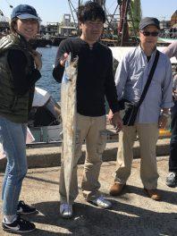 9月29日(金)の釣果(タチウオ122cm)