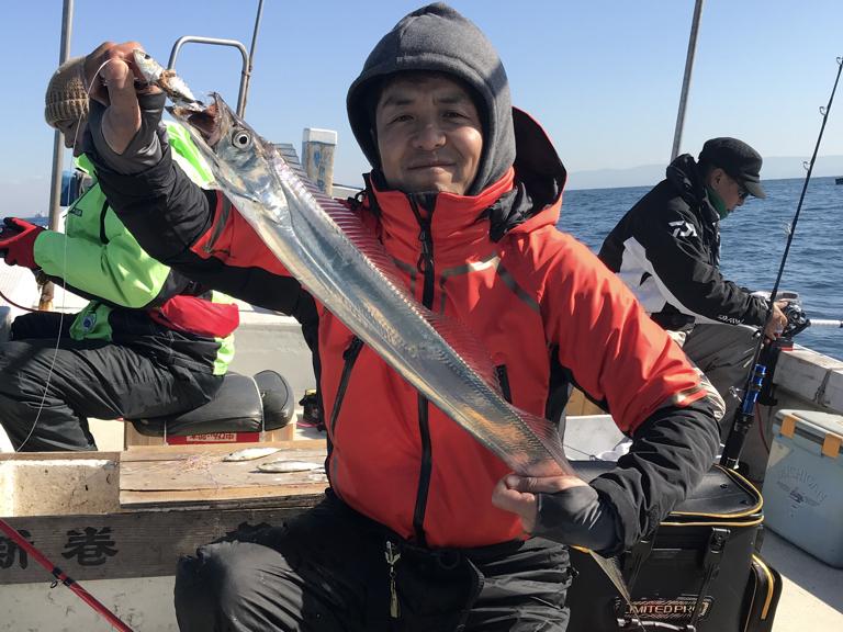 1月14日(月)の釣果(タチウオ37匹)
