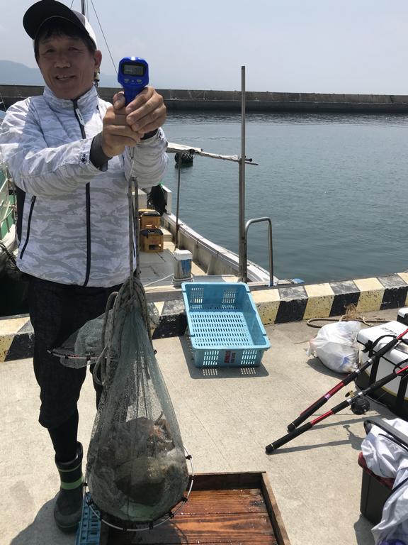2019-7-29-マダコ2.6kg含む竿頭目方11.30kg