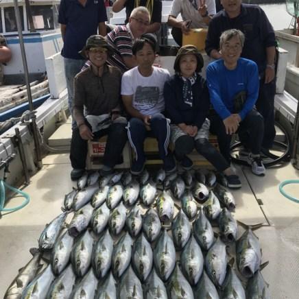 2019-9-29-メジロ船中42匹ほかサワラ1匹・スズキ1匹