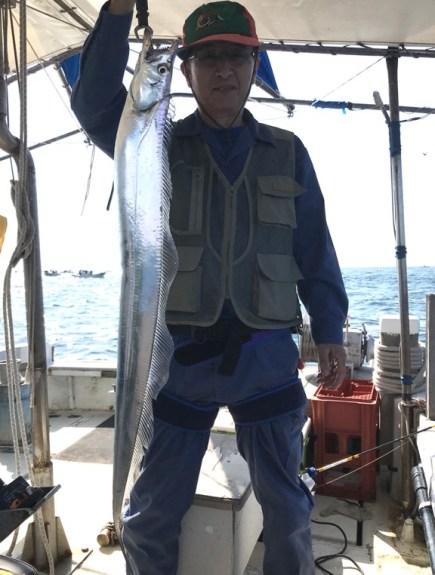 10月5日(土)の釣果(タチウオ117cm含む船中68匹)