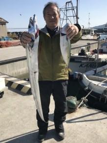 2019-11-8-タチウオ128cmとマサバ43cm
