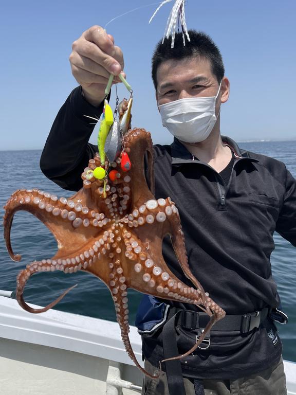 2021-5-10-初めてのマダコ釣りで1kgアップ